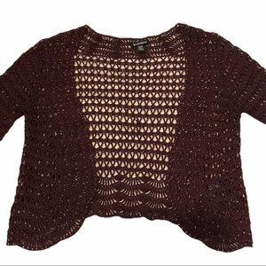 Le chateau burgundy embroidered beaded cardigan M